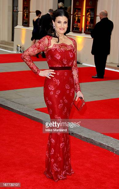 Idina Menzel attends The Laurence Olivier Awards at The Royal Opera House on April 28 2013 in London England