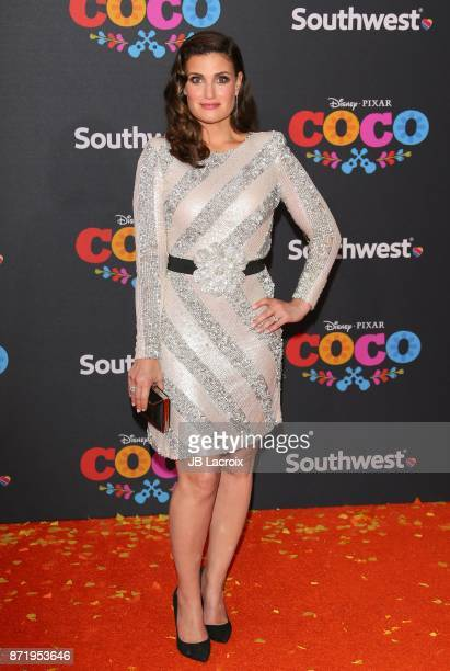 Idina Menzel attends the premiere of Disney Pixar's 'Coco' on November 8 2017 in Los Angeles California
