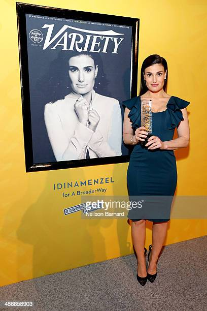 Idina Menzel attends Variety Power Of Women New York presented by FYI at Cipriani 42nd Street on April 25 2014 in New York City