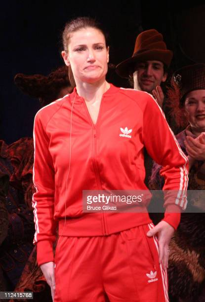 Idina Menzel during Idina Menzel's Final Performance In 'Wicked' After Injury During The Show at The Gershwin Theater in New York NY United States