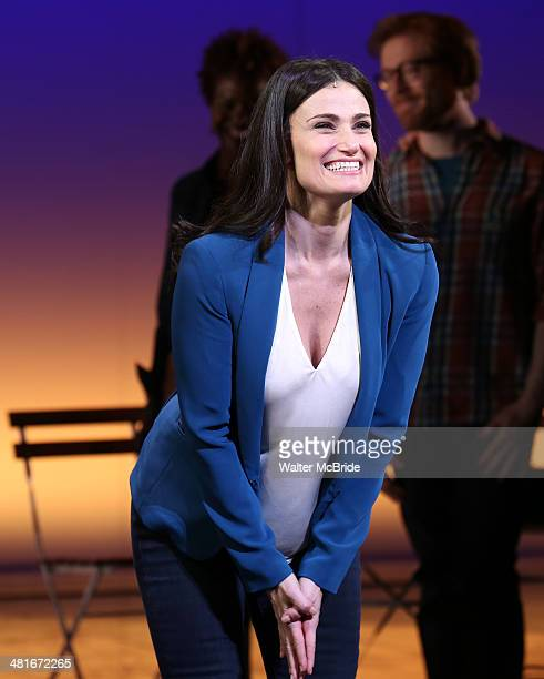 Idina Menzel during the Broadway Opening Night Curtain Call for 'If/Then' at Richard Rodgers Theatre on March 30 2014 in New York City