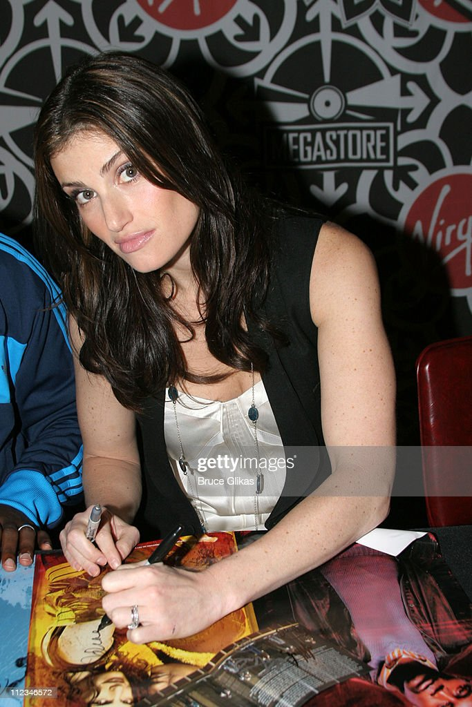 Idina Menzel during The Cast of 'Rent' In-Store Signing at Virgin Megastore in Times Square - November 14, 2005 at The Virgin Megastore Times Square in New York City, New York, United States.