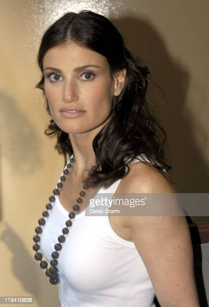 Idina Menzel during The Cast of the Movie 'Rent' Performs on the 'Today Show' 2005 Summer Concert Series at Rockefeller Plaza in New York City New...