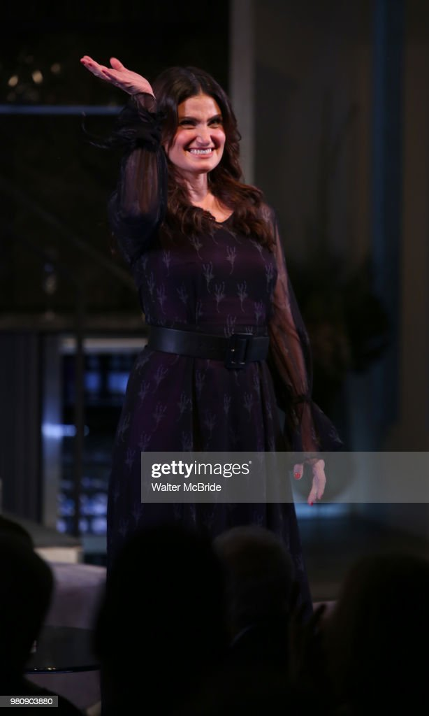 Idina Menzel during the Off-Broadway Opening Night Curtain Call Bows for the Roundabout Theatre Production of 'Skintight' at the Laura Pels Theatre on June 21, 2018 in New York City.