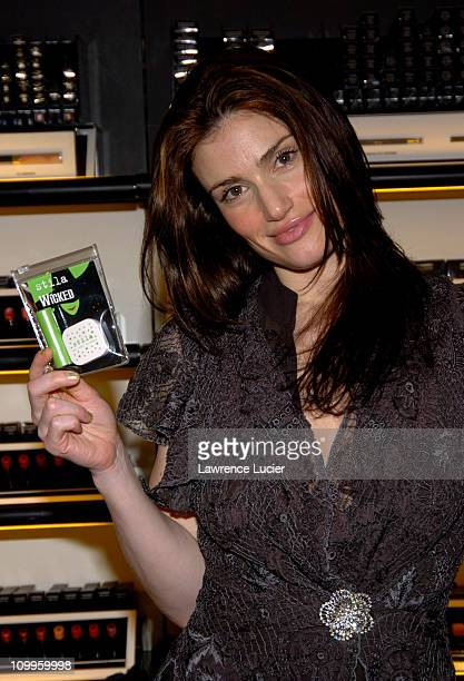 Idina Menzel during Wicked Broadway Soundtrack Signing Kristin Chenoweth and Idina Menzel at Sephora in New York City New York United States