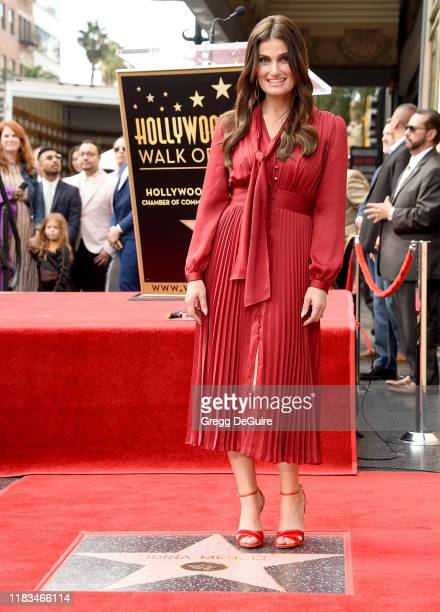 Idina Menzel is Honored With a Star On The Hollywood Walk Of Fame on November 19, 2019 in Hollywood, California.