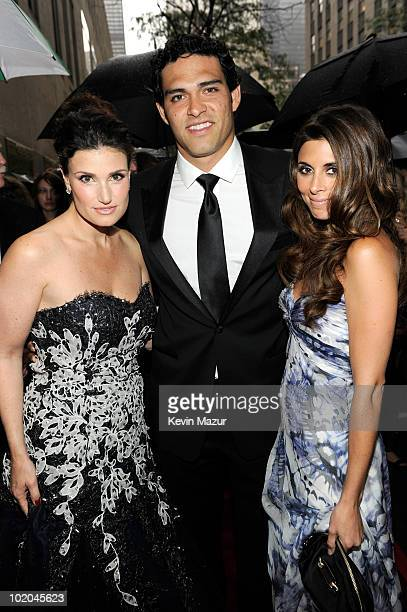 Idina Menzel Mark Sanchez and JamieLynn Sigler attends the 64th Annual Tony Awards at Radio City Music Hall on June 13 2010 in New York City