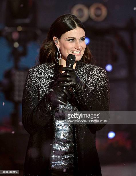 Idina Menzel performs during Dick Clark's New Year's Rockin' Eve with Ryan Seacrest 2015 on December 31 2014 in New York City