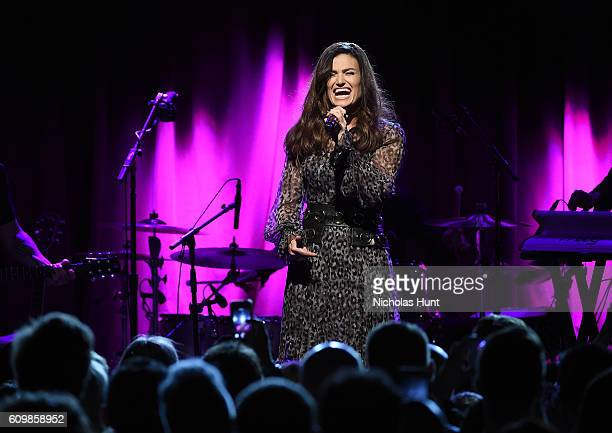 Idina Menzel performs in concert to celebrate her new album idina at Brooklyn Bowl on September 22 2016 in New York City