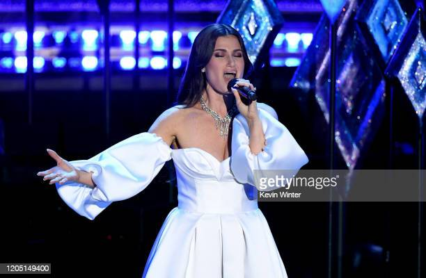 Idina Menzel performs onstage during the 92nd Annual Academy Awards at Dolby Theatre on February 09 2020 in Hollywood California