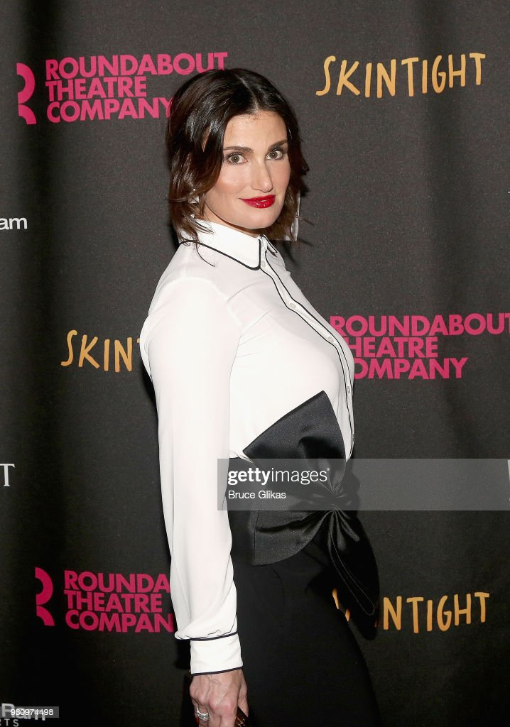 Idina Menzel poses at The Opening Night of the Roundabout Theatre Company's new play 'Skintight' at The Laura Pels Theatre on June 21, 2018 in New York City.