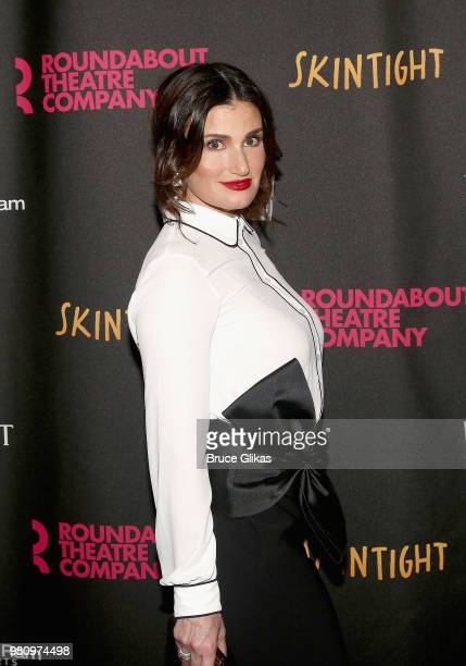 Idina Menzel poses at The Opening Night of the Roundabout Theatre Company's new play Skintight at The Laura Pels Theatre on June 21 2018 in New York...