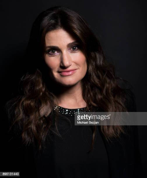 Idina Menzel poses for The Artists Project at Rock To Recovery 5th Anniversary Holiday Party at Avalon on December 17 2017 in Hollywood California