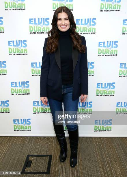 Idina Menzel visits The Elvis Duran Z100 Morning Show at Z100 Studio on December 02 2019 in New York City