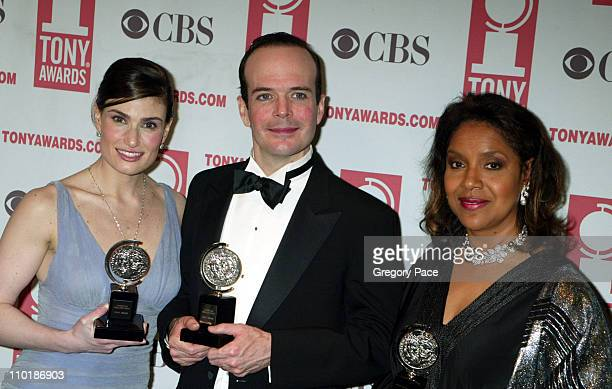 "Idina Menzel, winner Best Leading Actress in a Musical for ""Wicked"", Jefferson Mays, winner Best Leading Actor in a Play for ""I am My Own Wife"" and..."