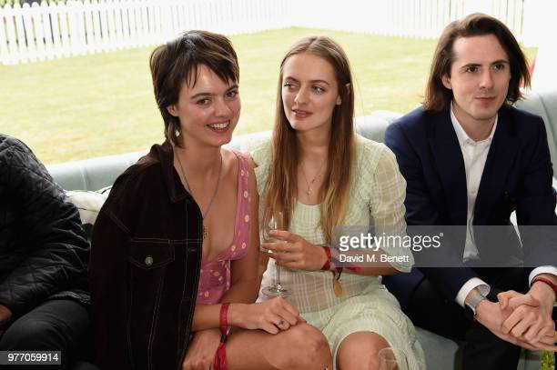 Idina Moncreiffe and Alexandra Moncreiffe attend the Cartier Queen's Cup Polo at Guards Polo Club on June 17 2018 in Egham England