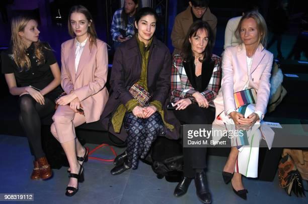 Idina Moncreiffe Greta Bellamacina Caroline Issa Daniela Agnelli and Marha Ward waering Paul Smith attend the Paul Smith AW18 Men's and Women's Show...