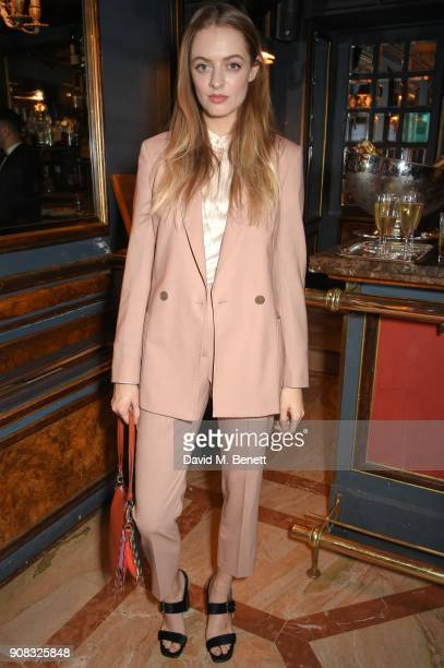 Idina Moncreiffe wearing Paul Smith attends the Paul Smith Malgosia Bela AW18 Lunch on January 21 2018 in Paris France