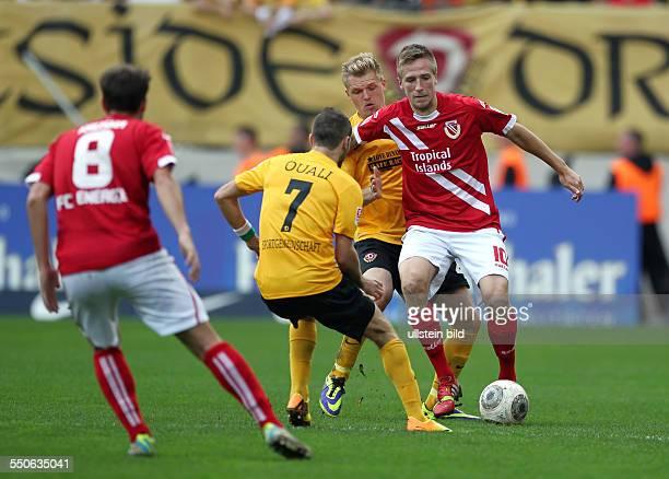 Idir Ouali, Thorsten Schulz, Marco Stiepermann, Aktion, Spielszene, Zweikampf , Sport, Fußball Fussball, zweite 2. Bundesliga Herren, Saison 2013 SG...
