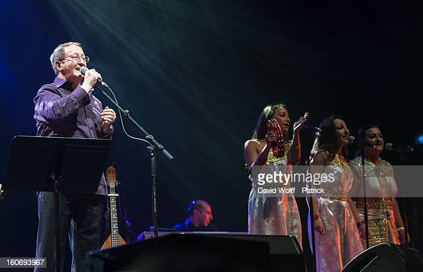 Idir performs at L'Olympia on February 4, 2013 in Paris, France.