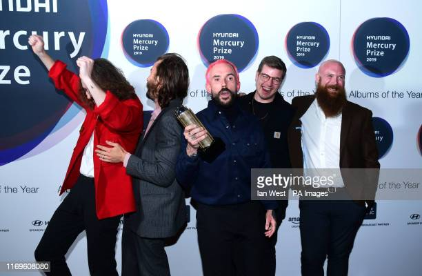 Idles during the Hyundai Mercury Prize 2019, held at the Eventim Apollo, London.