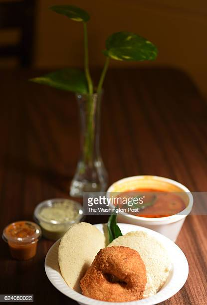 Idli Vada is on the menu at the Balaji Cafe in Herndon VA November 14 2016 The dish consists cakes made of fermented black lentils and rice served...