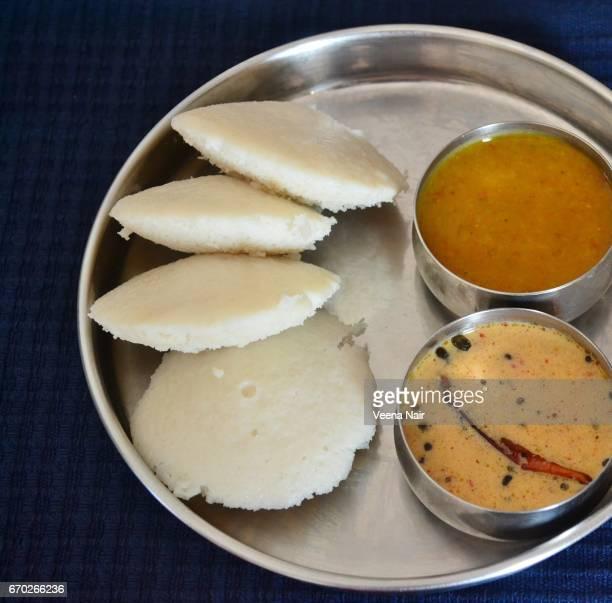 Idli/coconut chutney/sambar-South Indian breakfast