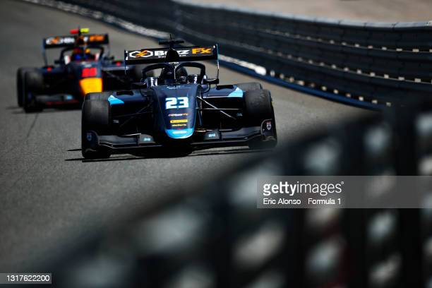 Ido Cohen of Israel and Carlin Buzz Racing drives at Circuito de Jerez on May 12, 2021 in Jerez de la Frontera, Spain.