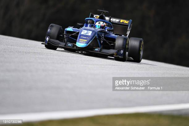 Ido Cohen of Israel and Carlin drives during Day Two of Formula 3 Testing at Red Bull Ring on April 04, 2021 in Spielberg, Austria.