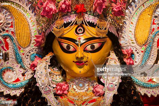 idol of durga during durga puja festival - durga stock photos and pictures
