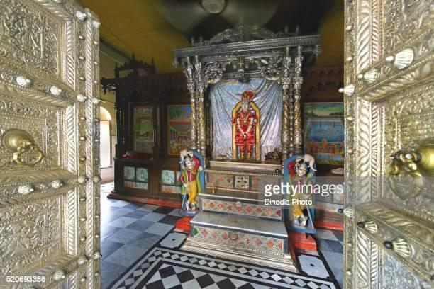 Idol of Ghanshyam Maharaj, Swaminarayan temple, Chhapaiya near Ayodhya, Faizabad, Uttar Pradesh, India