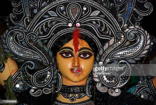 Idol of Goddess Durga Durga Puja Festival Kolkata West Bengal India