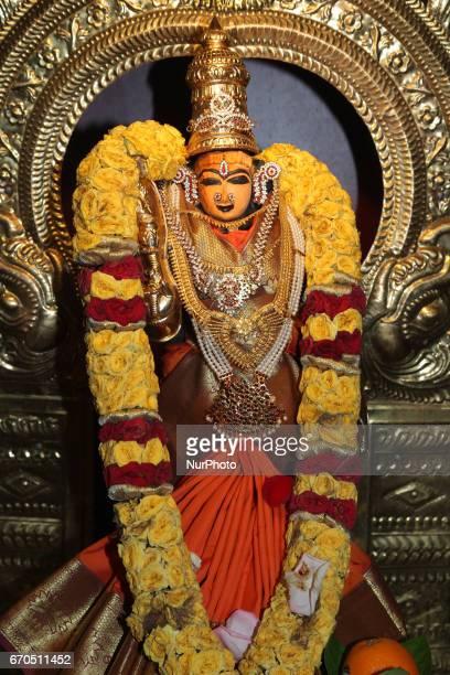 Idol of Sri Gowri Meenakshi at a Tamil Hindu temple in Toronto Ontario Canada