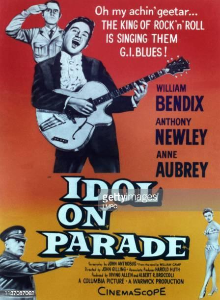 Idol On Parade poster Anthony Newley bottom form left William Bendix Anne Aubrey 1959