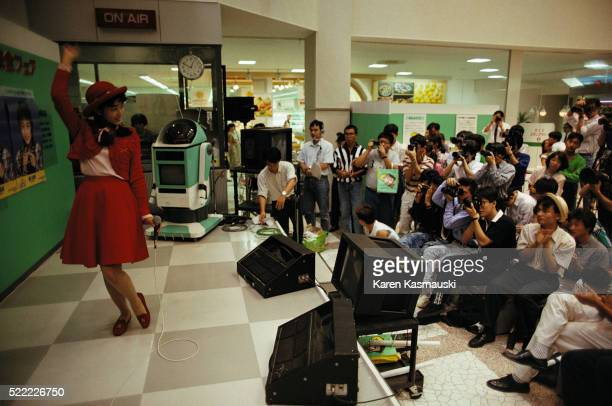 Idol Singer Performing in Shopping Center