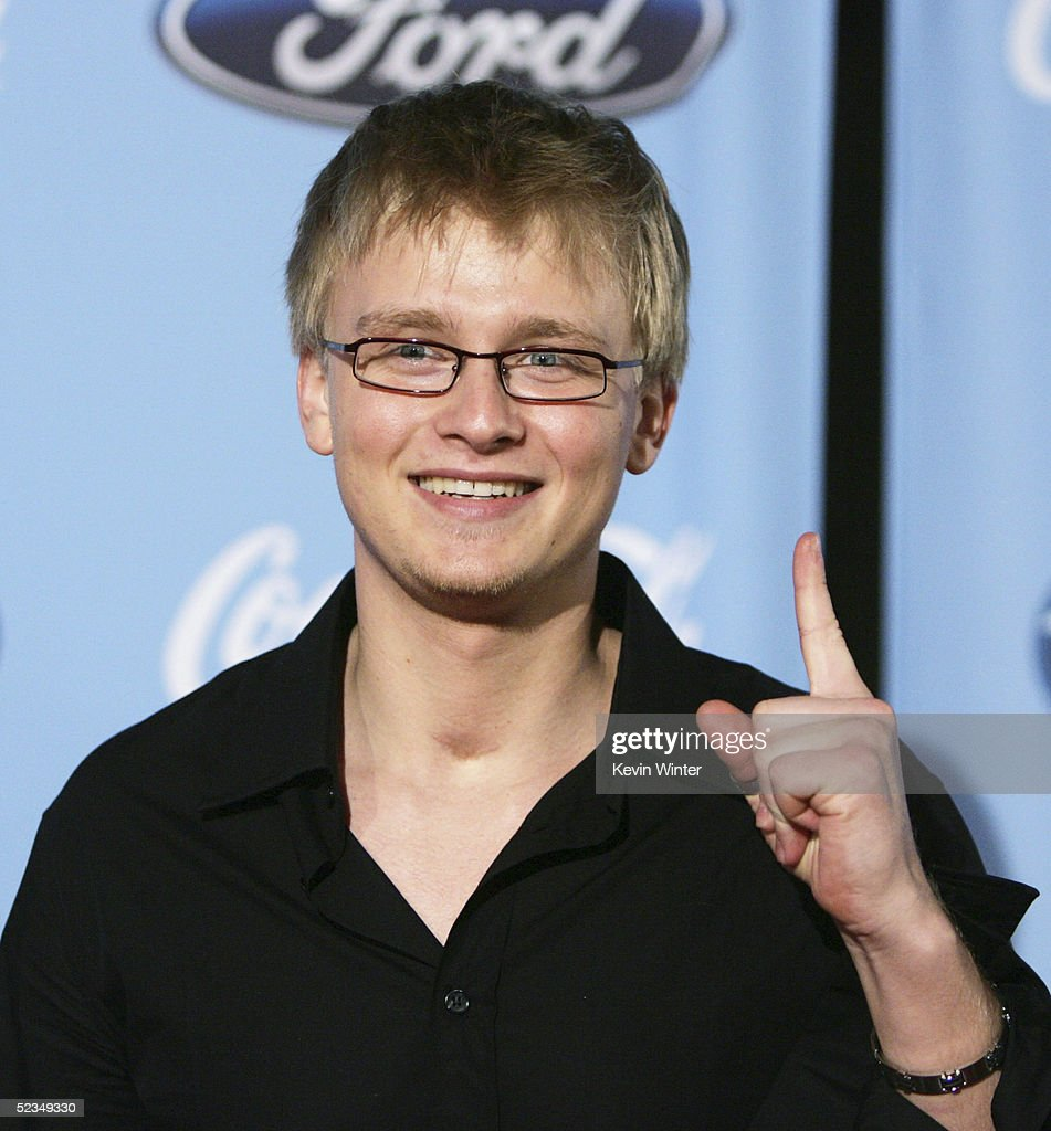 Idol's Anthony Fedorov arrives at a party to celebrate the 'American Idol' Top 12 Finalists at Astra West on March 9, 2005 in West Hollywood, California.