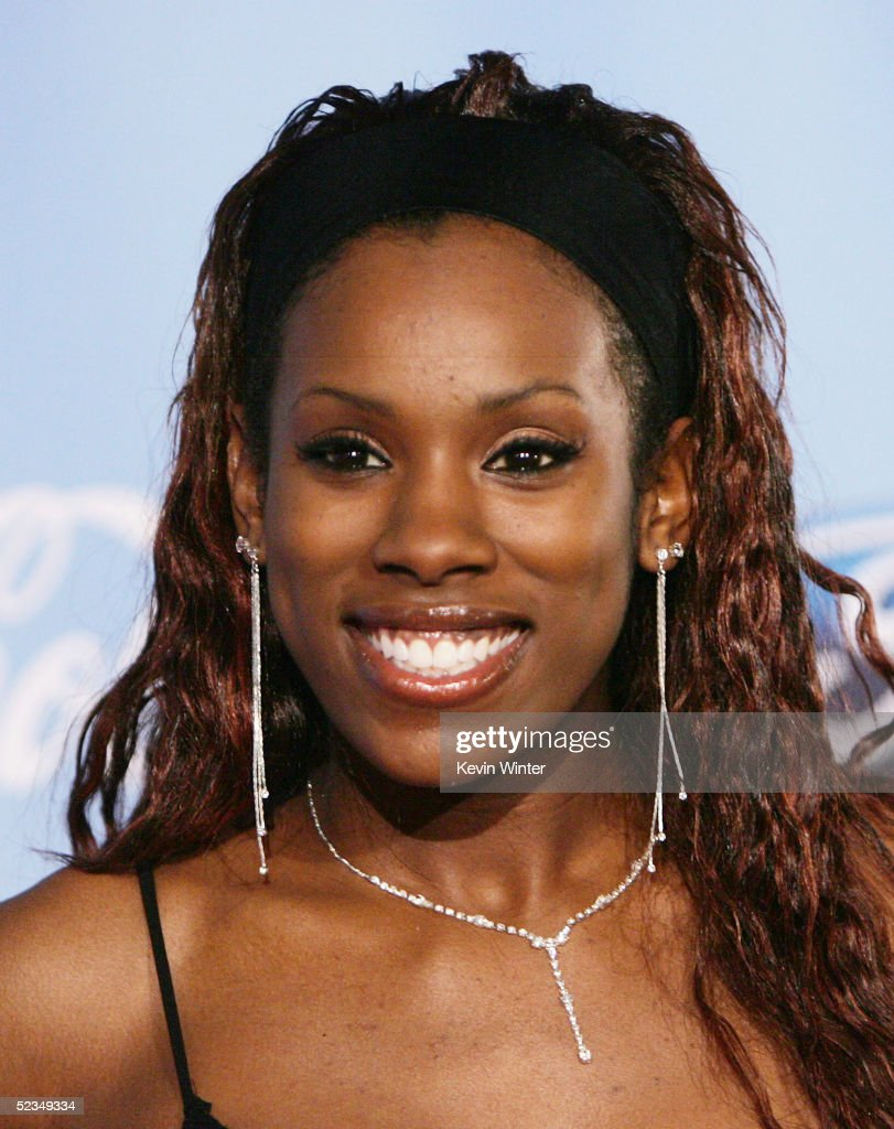 Idol's Vonzell Solomon arrives at a party to celebrate the 'American Idol' Top 12 Finalists at Astra West on March 9, 2005 in West Hollywood, California.