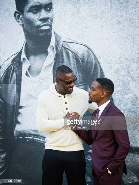 Idris Elba Aml Ameen attend the UK premiere of 'Yardie' at BFI Southbank on August 21 2018 in London England