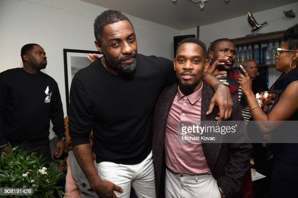 Idris Elba and Aml Ameen attend the 'Yardie' After Party at Sundance Film Festival 2018 at The Grey Goose Blue Door on January 20 2018 in Park City...