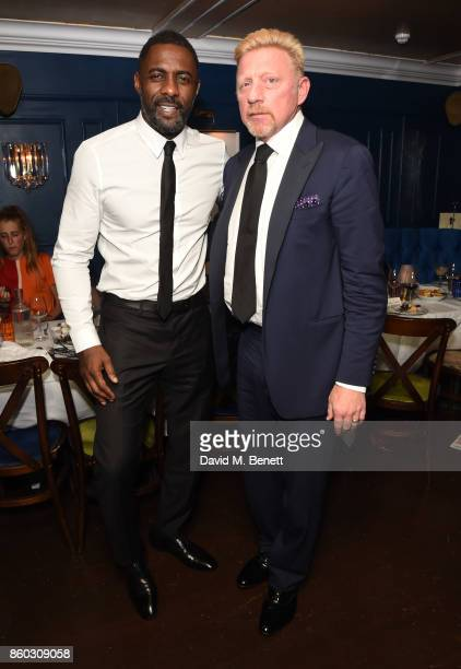 Idris Elba and Boris Becker attend the The BARDOU Foundation's International Day Of The Girl Gala in support of The Princes Trust at Albert's Club on...