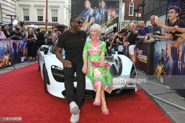 """Idris Elba and Dame Helen Mirren attend a special screening of """"Fast & Furious: Hobbs & Shaw"""" at The Curzon Mayfair on July 23, 2019 in London,..."""