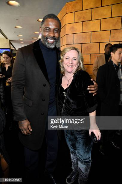 Idris Elba and Debra Hayward attend The World Premiere of Cats, presented by Universal Pictures on December 16, 2019 in New York City.