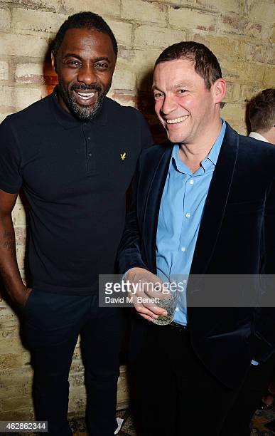 Idris Elba and Dominic West attend Harvey Weinstein's BAFTA Dinner in partnership with Burberry GREY GOOSE at Little House Mayfair on February 6 2015...
