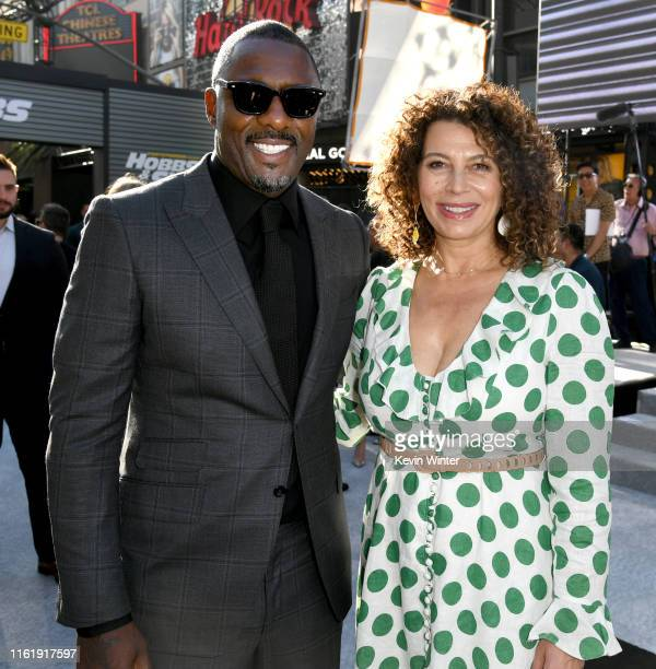 Idris Elba and Donna Langley arrive at the premiere of Universal Pictures' Fast Furious Presents Hobbs Shaw at Dolby Theatre on July 13 2019 in...