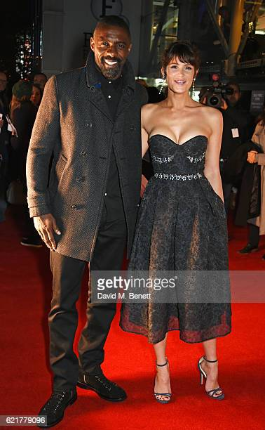 """Idris Elba and Gemma Arterton attend the UK Premiere of """"100 Streets"""" at the BFI Southbank on November 8, 2016 in London, United Kingdom."""