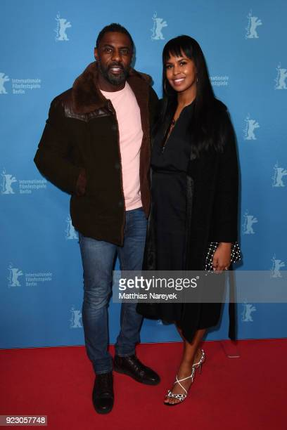 Idris Elba and his girlfriend Sabrina Dhowre attend the 'Yardie' premiere during the 68th Berlinale International Film Festival Berlin at Zoo Palast...