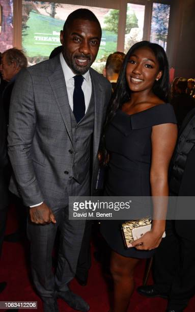 Idris Elba and Isan Elba attend The 64th Evening Standard Theatre Awards at the Theatre Royal Drury Lane on November 18 2018 in London England