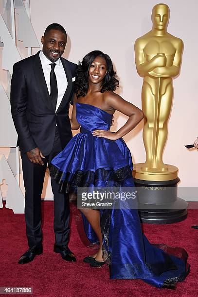Idris Elba and Isan Elba attend the 87th Annual Academy Awards at Hollywood Highland Center on February 22 2015 in Hollywood California