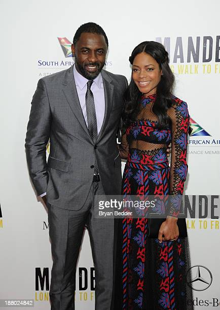 Idris Elba and Naomie Harris attend the New York premiere of MANDELA: LONG WALK TO FREEDOM, hosted by TWC, Yucaipa Films and Videovision...