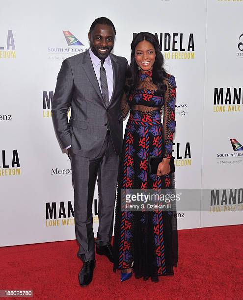 """Idris Elba and Naomie Harris attend the New York premiere of """"Mandela: Long Walk to Freedom"""" hosted by The Weinstein Company, Yucaipa Films &..."""